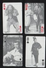 Vintage playing cards Flickers 1974 scenes from movies